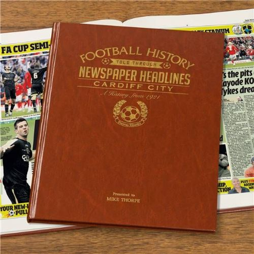 Personalised Cardiff City Football Book